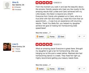 Yelp Customer Reviews