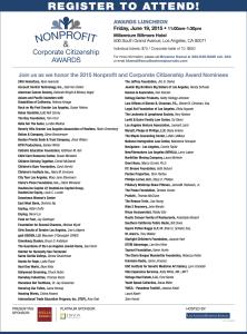 2015 Nonprofit & Corporate Citizenship Awards Nominee Annoucement